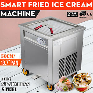 Fried Ice Cream Machine 50cm Square Pan Fruit Ice Cream Roll Maker 110v 1800w