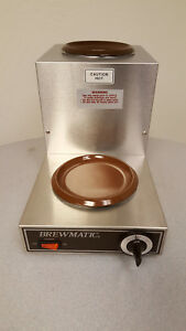Brewmatic Coffee Warmer Stove High Step Up With High Heat 120v