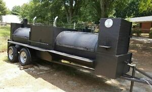Pro T Rex Bbq Smoker Cooker 48 Grill Trailer Mobile Food Truck Business Catering