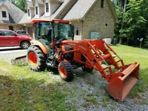 Kubota 4x4 Tractor L4760 Loader Cab Heat Air Air Ride Seat Only 29 Hours