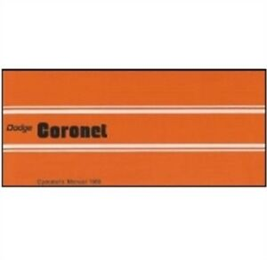 Factory Owner S Manual For 1969 Dodge Coronet
