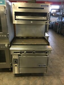 Us Range Gas 36 Griddle With Convection Oven And Salamander
