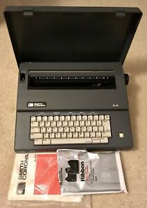 Vintage Smith Corona Sl80 Portable Electric Typewriter W cover Tested Working