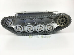 New Aluminum Robot Tank Chassis Tracked Vehicle For Arduino Robotics Diy