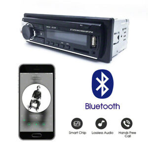 Vintage Car Radio Modern Bluetooth Mp3 Player Aux Classic Cars Stereo Remote