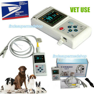 Veterinary Pulse Oximeter Spo2 Heart Rate Monitor Vet Tongue Probe Fda software
