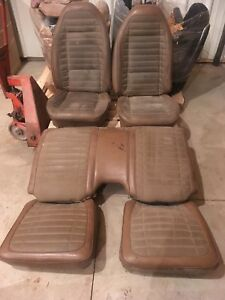 Pontiac Trans Am Formula Firebird Bucket Seat Set Seats Rear Bronze Gold Brown