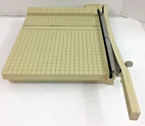 Boston Paper Cutter 12 Trimmer Heavy Duty Guillotine Usa Made Works Great