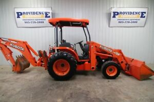 Kubota M59 Hst 4wd Backhoe Loader Tractor Skid Steer Quick Attach 845 Hours
