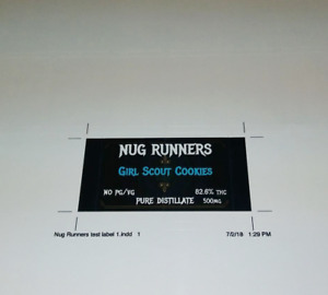 Polyester Labels 504 Custom Printed 1 25 X 2 5 Color Rectangle 84 Each Of 6