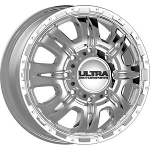 17x6 5 Ultra 049c Predator Dually Chrome Wheels Rims 129 8x6 50 Qty 4
