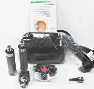 Welch Allyn 71641 m Ni cad Desk Set With Macroview Otoscope Ophthalmoscope New