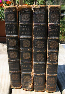Antique 1802 Bible 4 Volume Complete Set