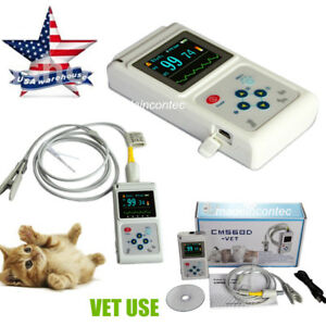 Veterinary Pulse Oximeter Handheld Spo2 pr Monitor Vet Tongue Probe sw Usa