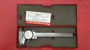 American Made Starrett 6 Inch Dial Caliper Model 120 Machinist Tools