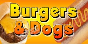 Cheese Burgers And Hot Dogs Vinyl Banner choose Your Size Full Color New