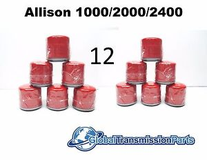 Gm Allison 1000 2000 Transmission Truck External Spin On Filter 12 pack 29537268