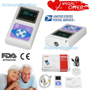 Contec Oled Hand held Pulse Oximeter Spo2 Blood Oxygen Monitor Usb Adult Cms60d