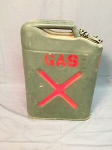 Bennett Military Jerry Gas Can Vintage Fuel Gasoline 5 Gallon