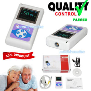 Handheld Pulse Oximeter Oled Spo2 Pulse Heart Rate Monitor Cms60d With Probe New