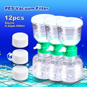 12pcs Vacuum Analytical Filter Units 0 22 m 500ml Compatible With Thermo Nalgene