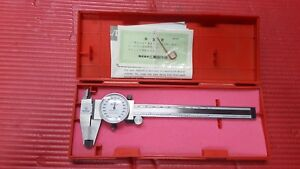 Excellent Carbide Od Jaws Mitutoyo Japan Made 6 Inch Dial Caliper