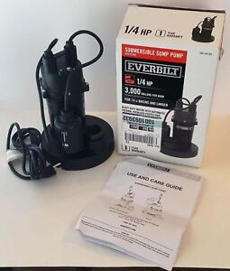Everbilt 1 4 Hp Submersible Sump Pump With Tether