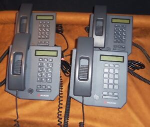 Lot 4 Great Polycom Cx300 Voip Phones W Handsets For Microsoft Lync communicator