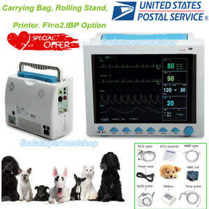 Vet Veterinary Vital Signs Patient Monitor Parameters printer etco2 ibp Option