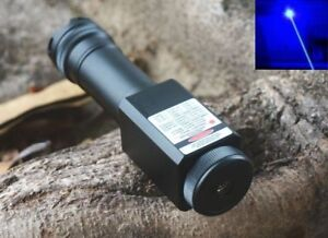 Waterproof Focusable Super Powerful 450nm Blue Laser Pointer Led Torch 450t 2000
