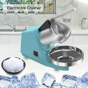 Electric Ice Crusher Shaver Commercial Machine Snow Cone Maker 65kg h 300w