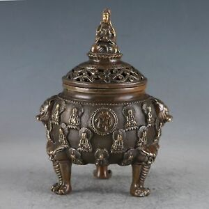 Chinese Exquisite Brass Buddha Incense Burner Made During The Daming Xuande