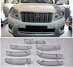 Honeycomb Style Front Grille Grill Mesh Cover For Toyota Prado Fj150 2010 2013