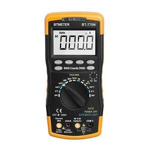 Multimeter Bt 770n Auto Manual Range Digital Avometer Universal Meter 6000 New