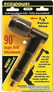 81544 Eazypower 90 Degree Angle Drill Attachment 3 8 Keyless Chuck