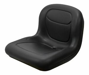 Milsco Xb150 Black Vinyl Seat 15 5 Tall With Multiple Mounting