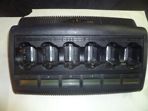 Motorola Wpln4127ar Impres Xts5000 6 Bank Battery Charger Conditioner W Display