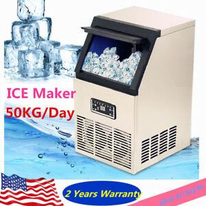 Commercial Ice Cube Maker Machine Portable Automatic Home Business 50kg day