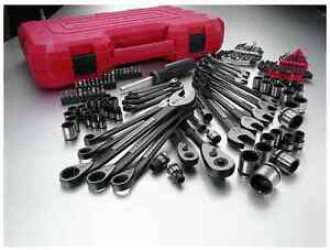 Craftsman Mechanics Tool Set 115 Pc Universal Sockets Wrenches Sae Metric Case