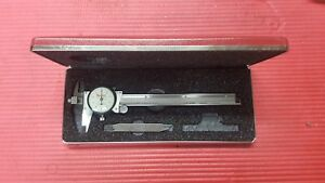 American Made Starrett 6 Dial Caliper Offset Jaw Model 120j Machinist Tools
