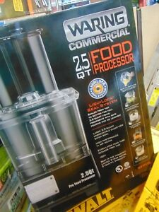 Waring Wfp11s Food Processor With 2 5 Qt Bowl 3 4 Hp