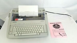 Brother Gx 6750 Daisywheel Portable Electric Typewriter Working Euc