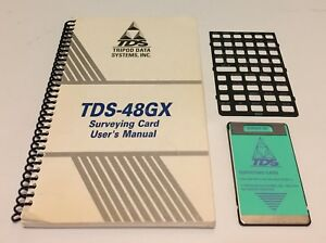 Tds Survey Card W Manual Overlay For Hp 48gx Calculator