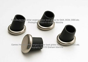 Eames Herman Miller Set Of 4 Angled Rubber Boot Glides Lcm Dcm Dss Dax