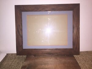 Quarter Sawn Tiger Oak Mission Arts Crafts Matted Frame Early Mid Century