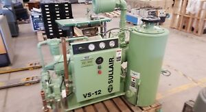 Used Sullair Vs 12 Rotary Screw Air Compressor 480 Volt