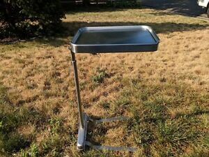 Vintage Blickman Health Industries Stainless Steel Stand W Removable Tray