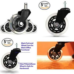 Set Of 5 Rollerblade Office Chair Replacement Wheels 3 Inch Carter Swivels Parts