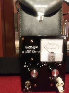 Multi amp Model 185 Ct Burden Ammeter