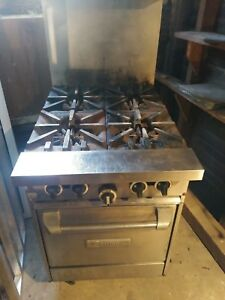 Garland Commercial 4 Burner Gas Stove W Oven 24 Space Saver Local Pick Up